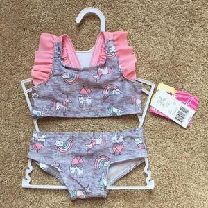 NWT Baby girl two piece swimsuit!